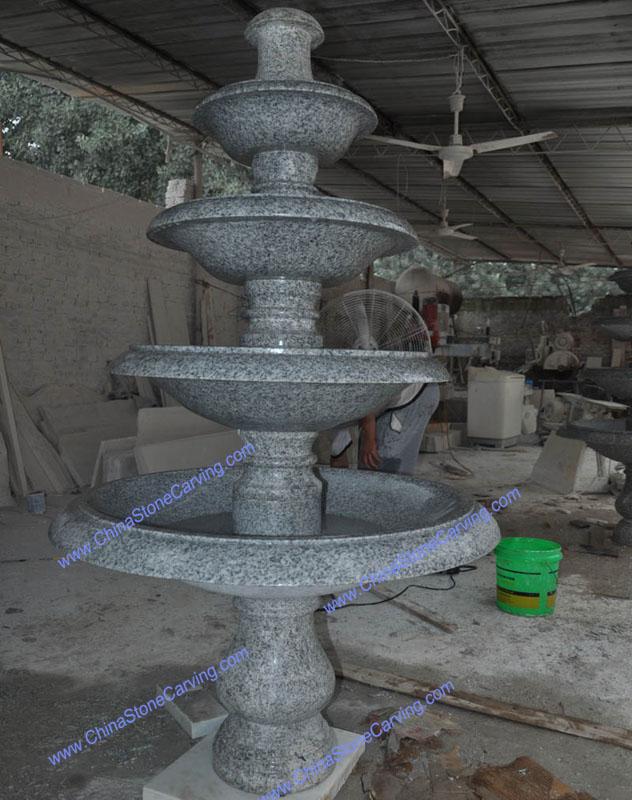 white granite fountain